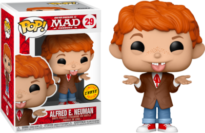 Pre-Order: MAD Magazine - Alfred E. Neuman Chase Pop! Vinyl Figure  Bundle of 6 (set of 6 Pops)