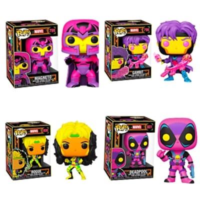 Marvel: Blacklight - Deadpool, Magneto, Gambit & Rogue Blacklight Pop! Vinyl Figure