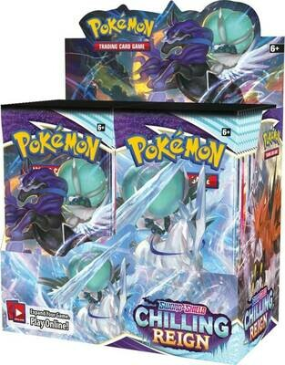 Pre-Order: POKÉMON TCG Sword and Shield – Chilling Reign Booster Box (sealed box of 36 boosters)
