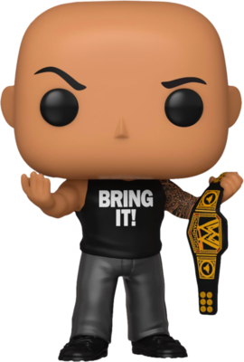 Pre-Order: WWE - The Rock with Championship Belt Pop! Vinyl Figure