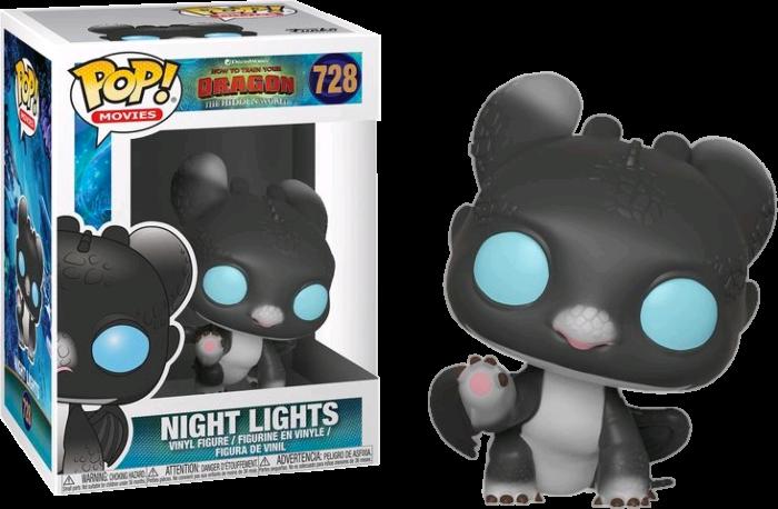 How to Train Your Dragon 3: The Hidden World - Night Lights Black & Blue Pop! Vinyl Figure (box damaged)