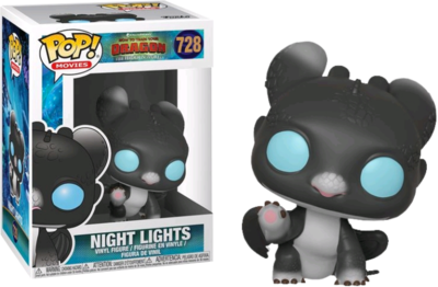 How to Train Your Dragon 3: The Hidden World - Night Lights Black & Blue Pop! Vinyl Figure (box damaged)