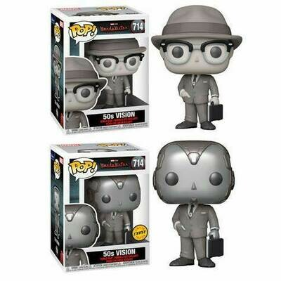 Pre-Order: WandaVision - 50s Vision Pop! Vinyl Figure Bundle of 6 (set of 6)