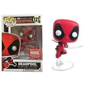 Marvel - Leaping Deadpool Pop! Vinyl Figure Marvel Collector Corps Exclusive