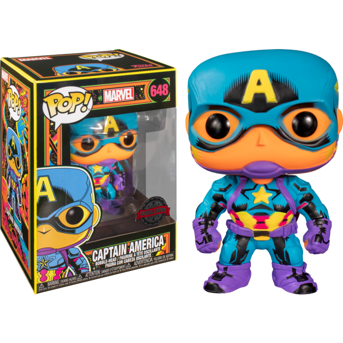 Pre-Order: Marvel: Black Light - Captain America Pop! Vinyl Figure