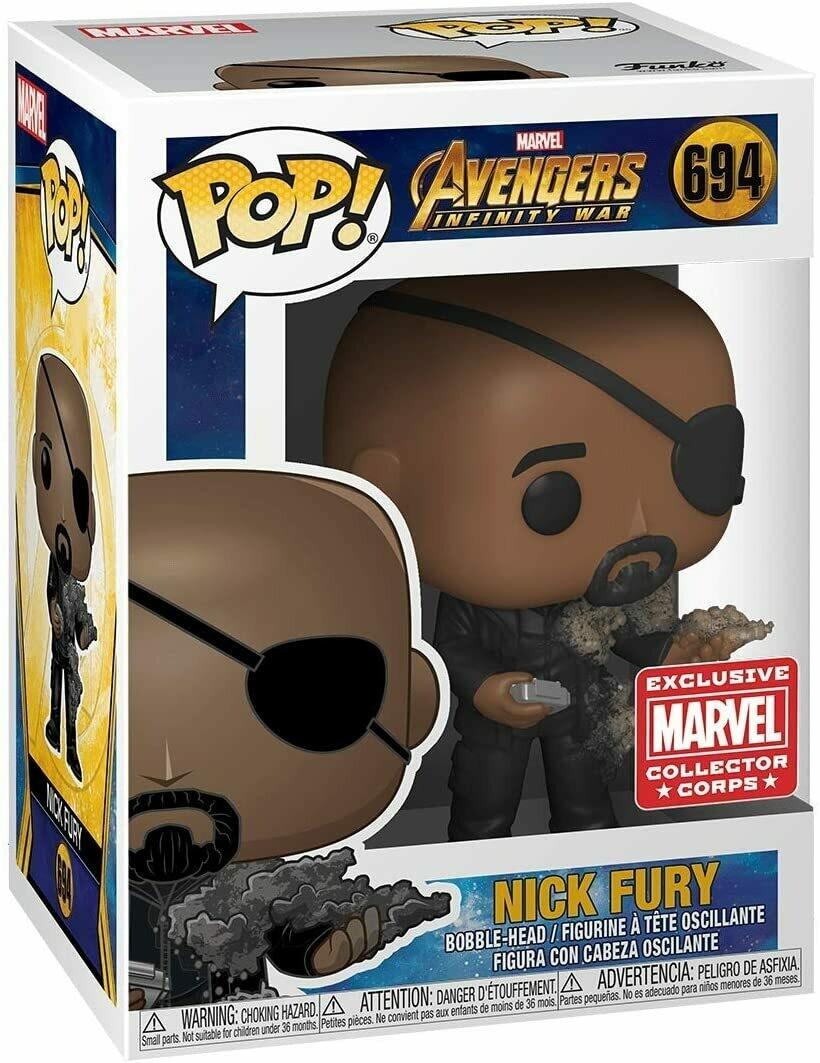 Marvel Collector Corps Exclusive End Credits Nick Fury Pop Vinyl Figure