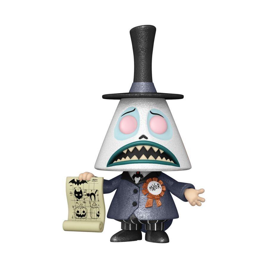 Pre-Order: The Nightmare Before Christmas - Mayor w/Megaphone Chase Diamond Glitter Pop! Bundle of 6 (set of 6 Pops)