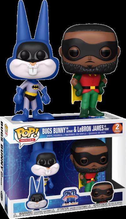 Space Jam 2: A New Legacy - Bugs Bunny as Batman & LeBron James as Robin Pop! Vinyl Figure 2-Pack