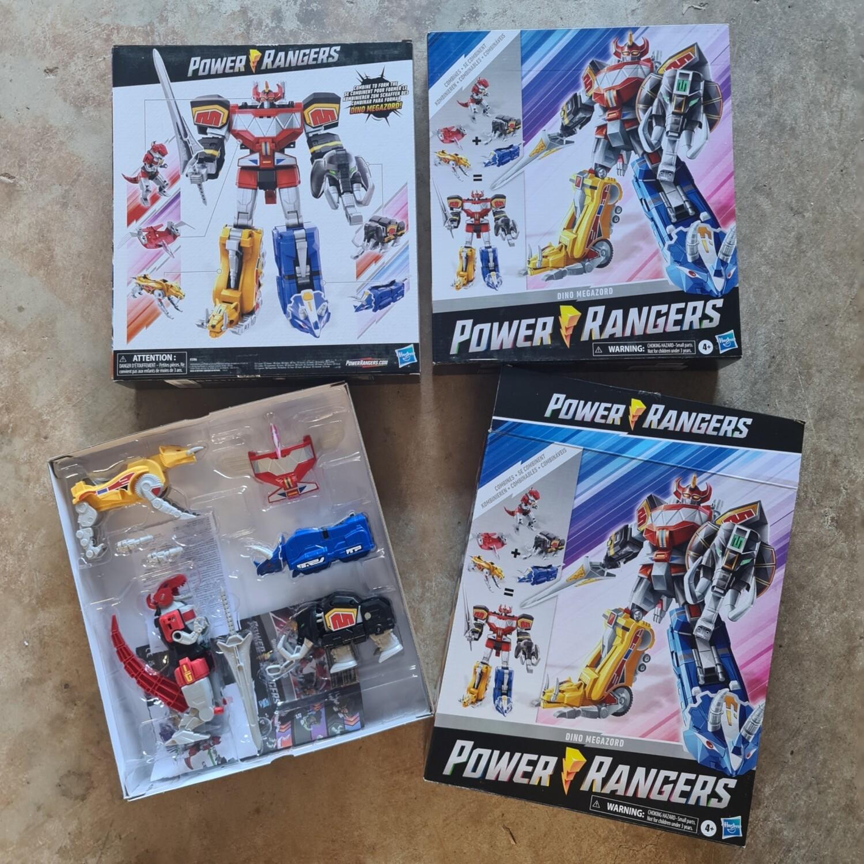 Hasbro 2020 MMPR Power Rangers Dino Megazord Complete Set of All Zords (1 box)