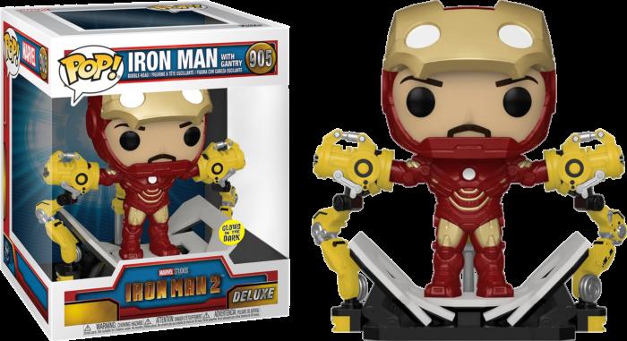 Pre-Order: Iron Man 2 - Iron Man MKIV with Gantry Glow in the Dark Deluxe Pop! Vinyl Figure