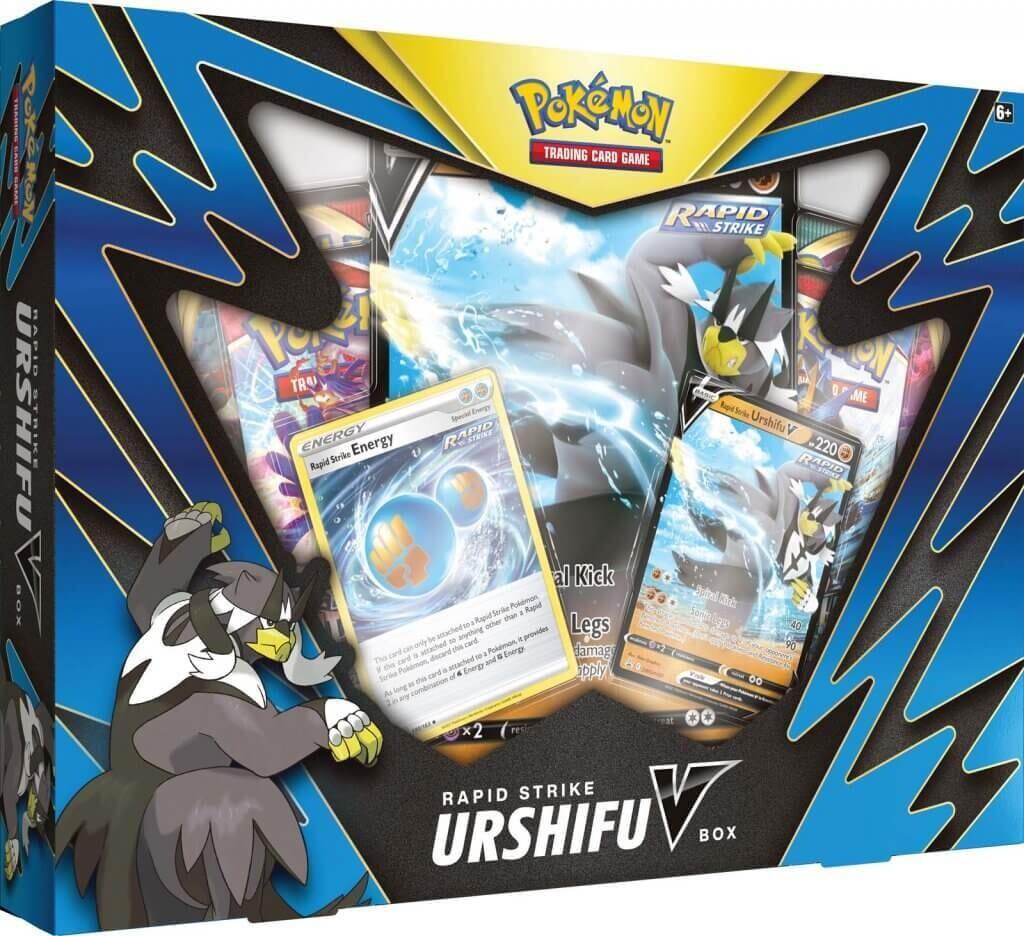 Pokemon TCG Single/Rapid Strike Urshifu V Box
