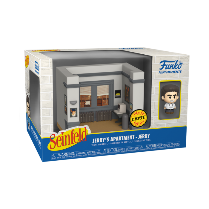 Seinfeld - Jerry Seinfeld Chase with Jerry's Apartment Diorama Mini Moments Vinyl Figure