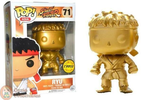 Street Fighter Ryu Chase Gold Pop Vinyl Figure