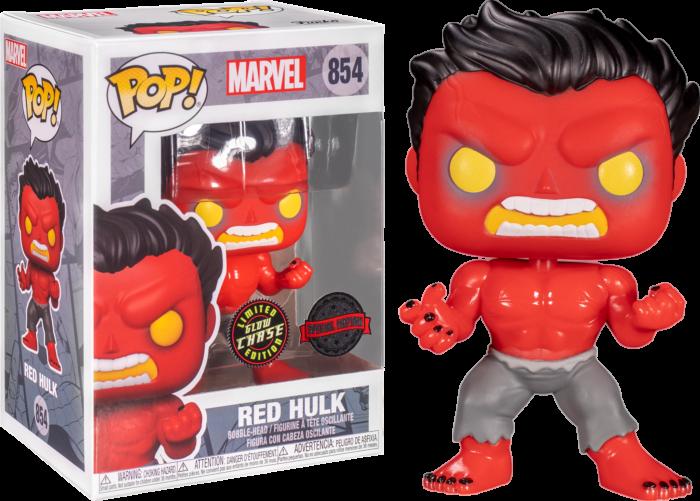 Hulk - Red Hulk Chase Pop! Vinyl Figure Bundle of 6 (set of 6 Pops)