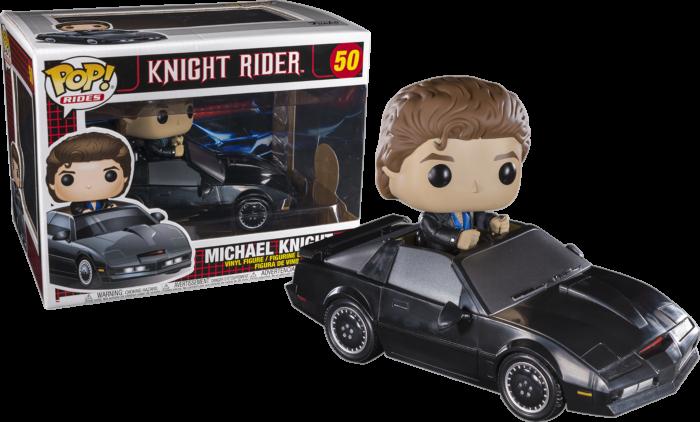 Knight Rider - Michael Knight with KITT Pop! Rides Vinyl Figure