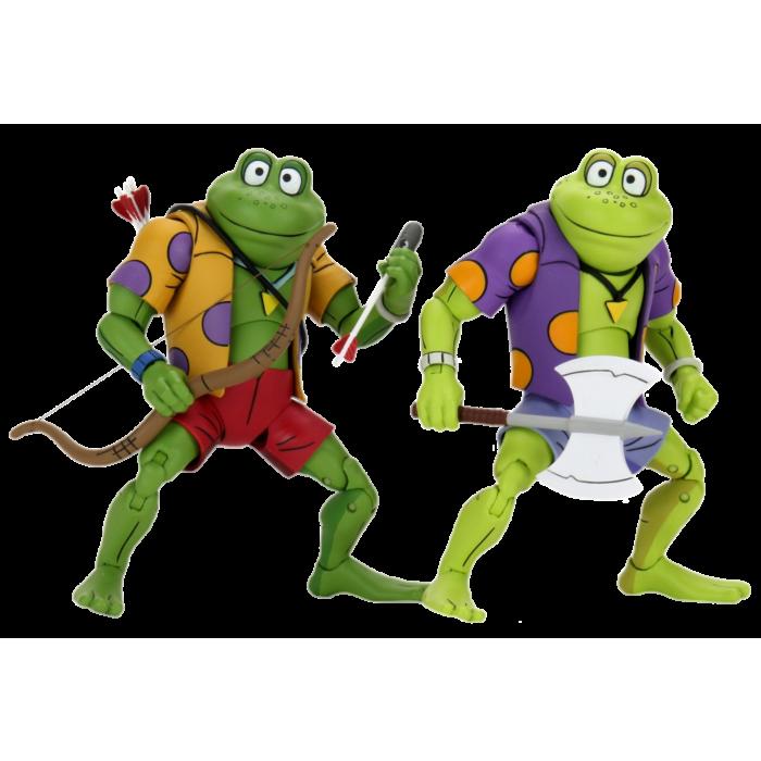 "Teenage Mutant Ninja Turtles (1987) - Genghis the Frog & Rasputin the Mad Frog 7"" Action Figure 2-Pack"