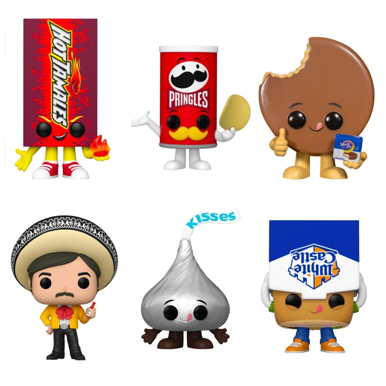 Ad icon- Moon Pie, Hershey's, Pringles, White Castle, Hot Tamales, Tapatío Pop! Vinyl Figure