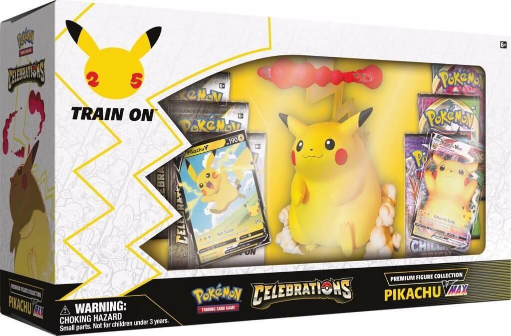 Pre-Order: POKÉMON TCG Premium Figure Collection – Celebrations Pikachu Vmax