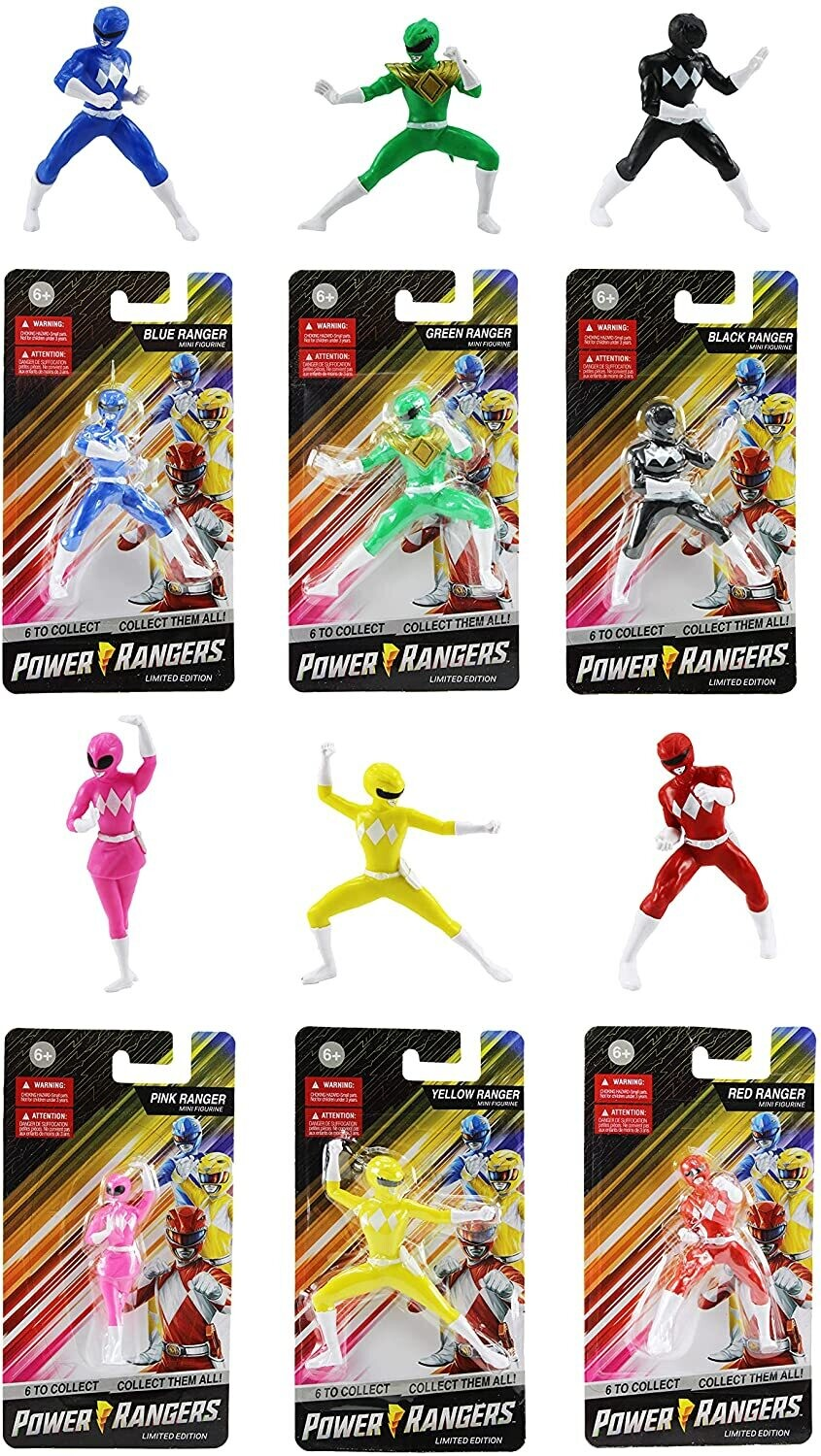 Mighty Morphin Power Rangers Mini Figurine Limited Edition  set of 6