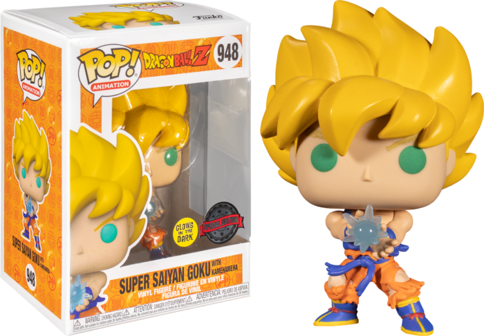 Dragon Ball Z - Super Saiyan Goku with Kamehameha Wave Glow in the Dark Pop! Vinyl Figure