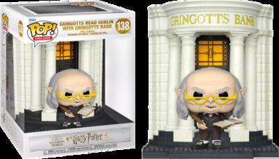 Pre-order: Harry Potter - Gringotts' Head Goblin with Gringott's Wizarding Bank Diagon Alley Diorama Deluxe Pop! Vinyl Figure