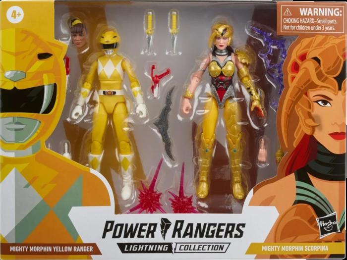 "Pre-Order: Saban's Power Rangers - Mighty Morphin Yellow Ranger Aisha vs. Scorpina Lightning Collection 6"" Action Figure 2-Pack"