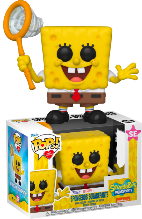Pre-Order: SpongeBob SquarePants - SpongeBob SquarePants with Net Pop! Vinyl Figure (Pops! with Purpose)