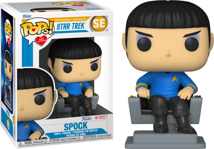 Pre-Order: Star Trek: The Original Series - Spock in Chair Pop! Vinyl Figure (Pops! with Purpose)