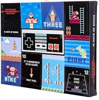Nintendo Advent Calendar 12 Days socks