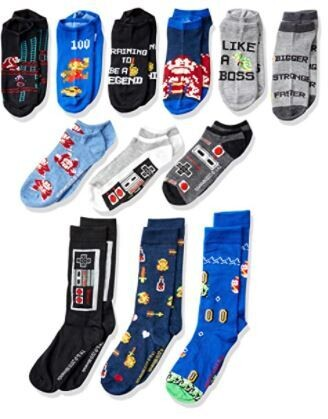 Nintendo Men's Classic 12 Days of Socks Advent Box Christmas