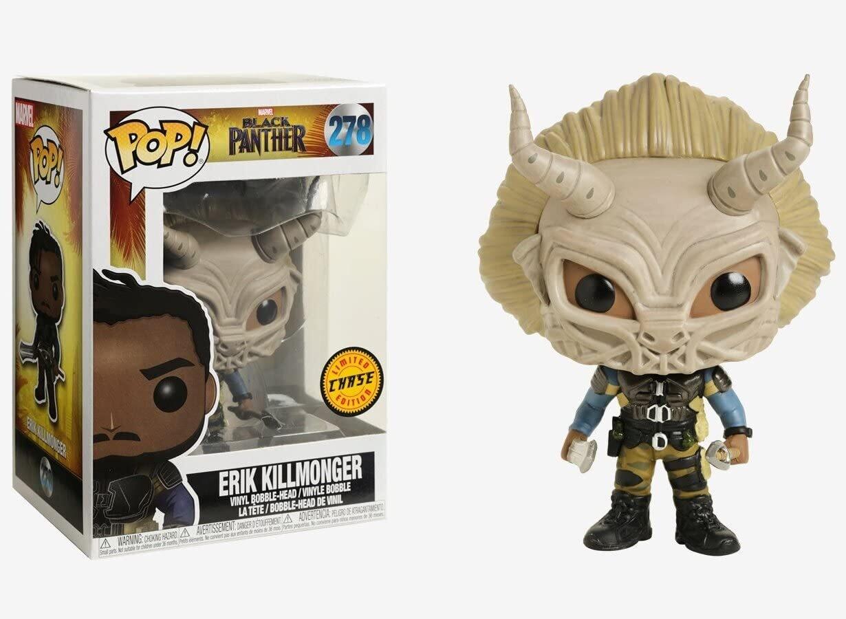 Marvel Black Panther- Erik Killmonger Chase Pop! Vinyl Figure (Box damaged)