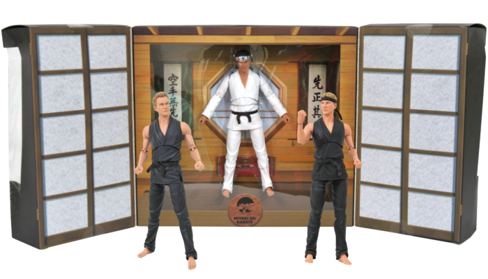 "Cobra Kai - Johnny Lawrence, John Kreese & Daniel LaRusso 7"" Action Figure 3-Pack (2021 San Diego Previews Exclusive)"