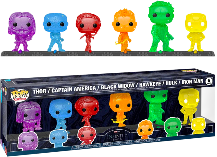 Pre-Order: Avengers 4: Endgame - The Avengers Infinity Stones Artist Series Pop! Vinyl Figure 6-Pack with Collector Base