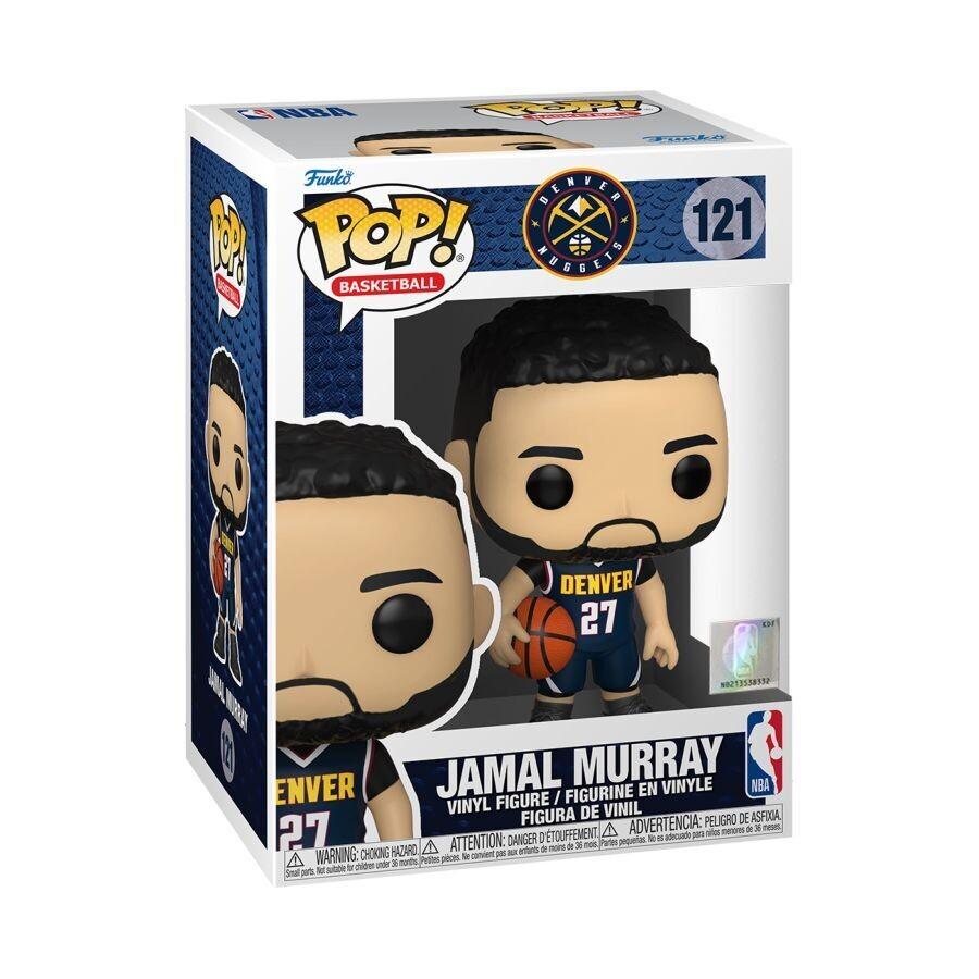 Pre-Order: NBA: Nuggets - Jamal Murray Dark Blue Jersey Pop! Vinyl Figure