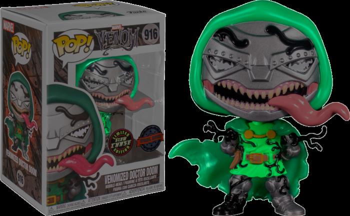 Venom - Venomized Doctor Doom Chase Pop! Vinyl Figure Bundle of 6 (set of 6 Pops)