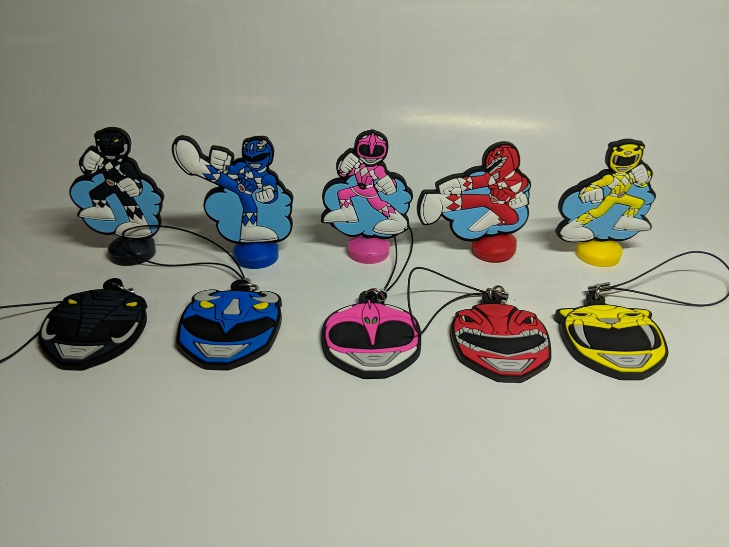 Mighty Morphin Power Rangers rubber vinyl set of 10