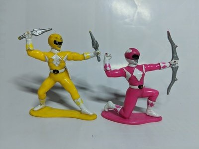 Mighty Morphin Power Rangers Yellow and Pink Ranger action figure