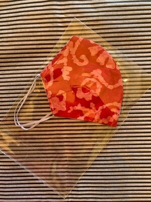 Muted Red Batik Mask
