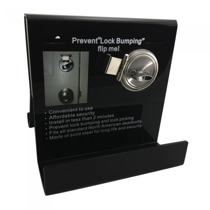 Deadbolt Secure Plexiglass Display