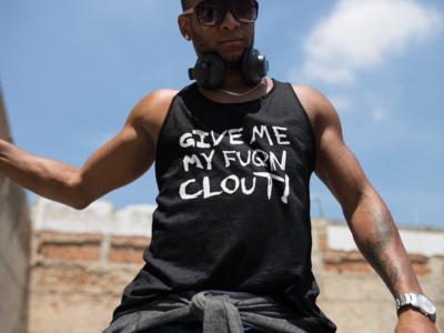 Clout Reverse on Dark T-Shirt