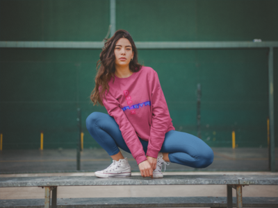 Neon Long sleeve workout shirt
