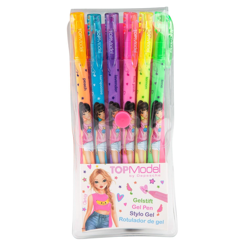 TOPModel Ручки цветные гелевые Неон