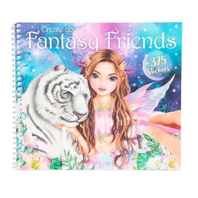 TOPModel Fantasy Альбом для раскрашивания Фантазийный друг