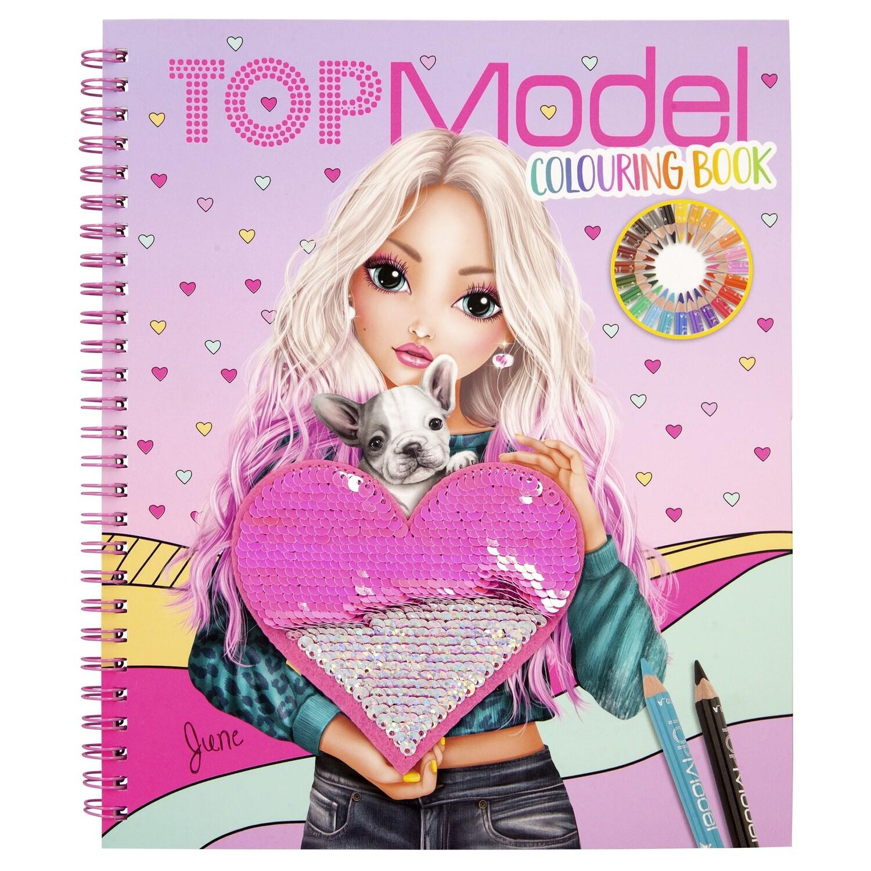 TOPModel Альбом для раскрашивания с пайетками