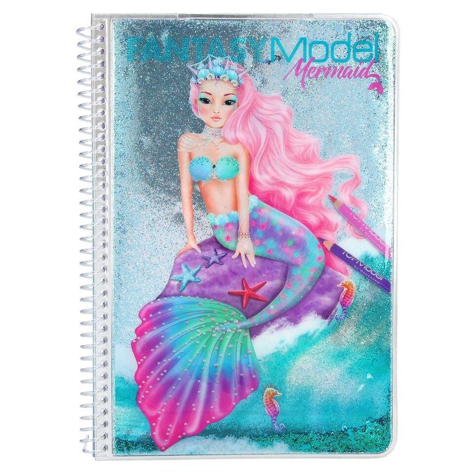 TOPModel Fantasy Colouring book Mermiad