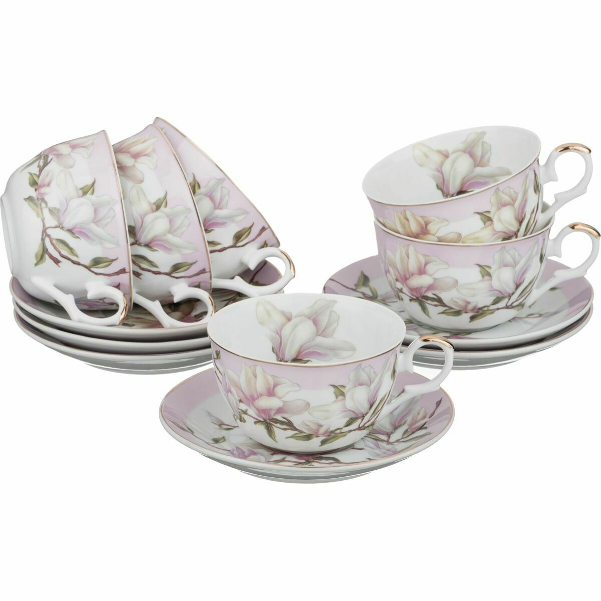 Чайный набор на 6 перс 12пр 250мл 69-1648