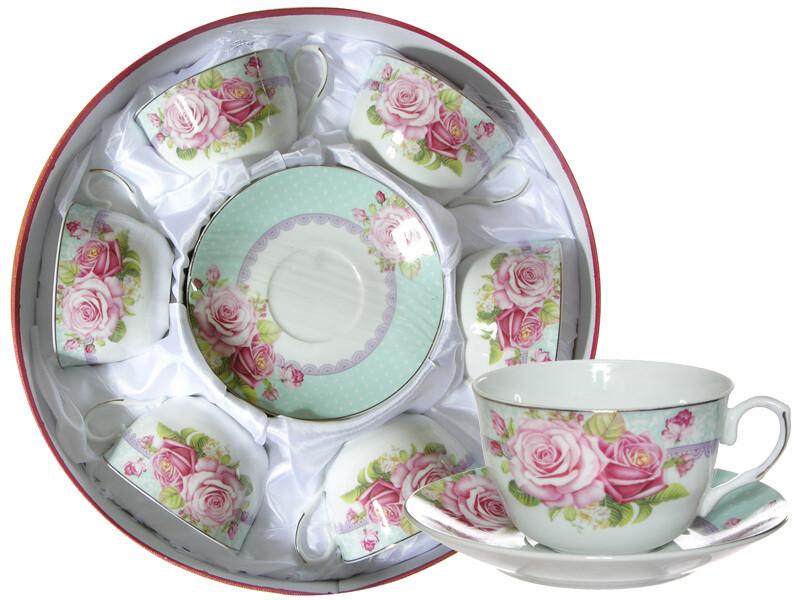 Набор чайный 12 предметов в подарочной коробке 742-005