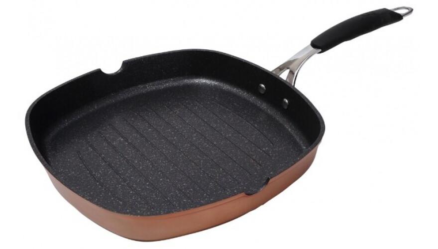 Сковорода-гриль 28х28 см BG-7908-CP