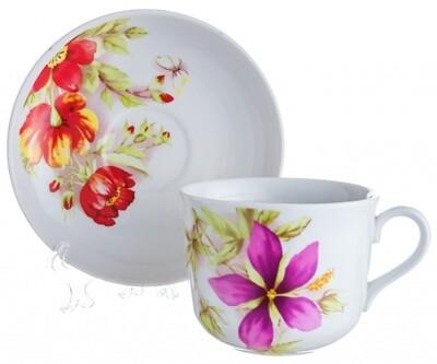 Чайная пара 450 мл Ностальгия Альпийские цветы 06567