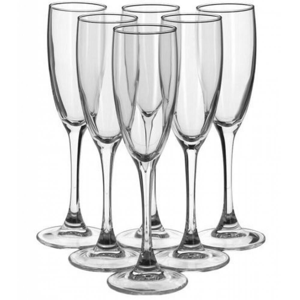 Набор фужеров для шампанского 6 шт. 170 мл Signature H8161